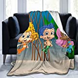 Qualet Bubble Guppy Ultra-Soft Micro Fleece Blanket Home Decor Throw Lightweight for Couch Bed Sofa 50'X40'