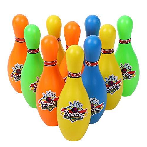 Mxtech Juguete de Bola de Bolos Juguete de Bolos Lindo Colorido, Juguete de Bolos para niños, Bolos no tóxicos para niños Seguro para Juegos Familiares(7 Inch)