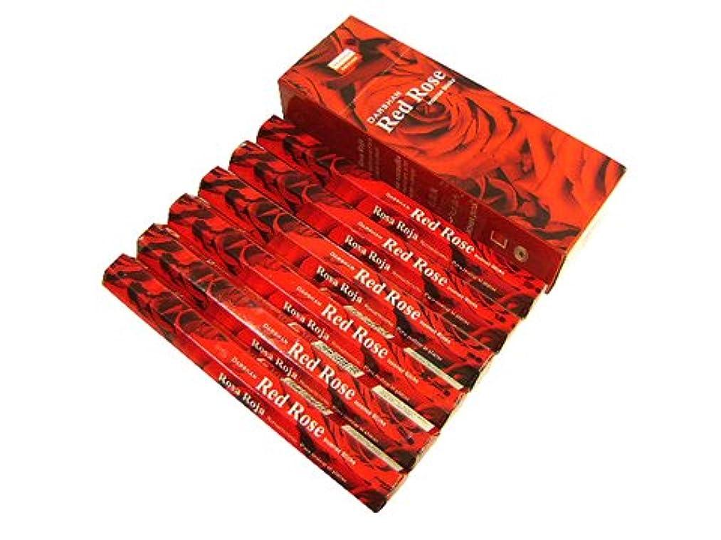 ビュッフェ沈黙アヒルDARSHAN(ダルシャン) レッドローズ香 スティック RED ROSE 6箱セット