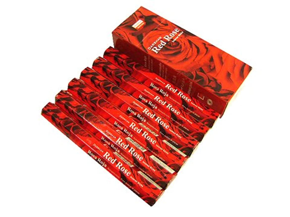 進行中類人猿小売DARSHAN(ダルシャン) レッドローズ香 スティック RED ROSE 6箱セット