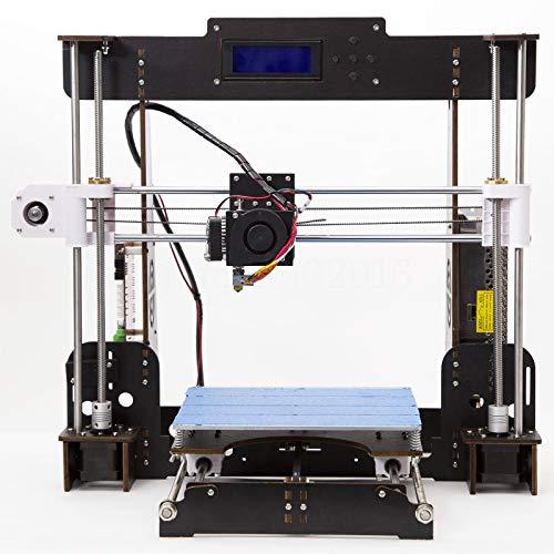 3D Imprimante,CTC A8 DIY Prusa i3 MK8 De bureau De Mise à Niveau De l'imprimante 3D Kit d'Impression Matériaux Filament d'imprimante ABS/PLA 1.75 mm(Taille d'impression : 220 mm x 220 mm x 240 mm)
