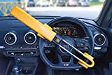 Streetwize SWTBL Twin Bar Steering Wheel Lock - Yellow, Heavy Duty Double Hook