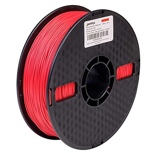 JANBEX PLA (Rot) Filament 1,75 mm 1kg Rolle für 3D Drucker oder Stift in Vakuumverpackung