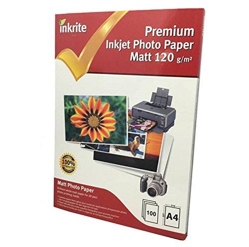 Inkrite PhotoPlus Premium - Papel fotográfico mate (120 g, A4, 100 hojas)
