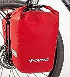 Crosso Twist Bolsa para Bicicleta, Rojo, 30 L