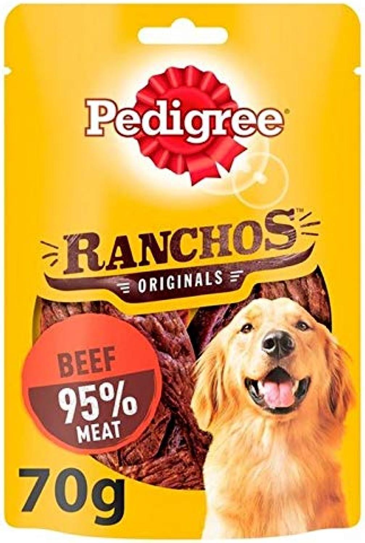 6X Pedigree Ranchos Dog Treats with Beef 70g