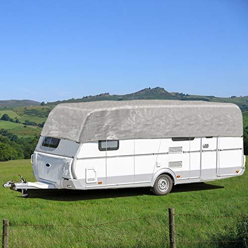 UK Wholesale Funda Impermeable para Parte Superior de Coche o Caravana, Color Gris
