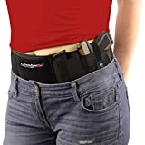ComfortTac Ultimate Belly Band Holster for Concealed Carry | Black | Fits Gun Smith and Wesson Bodyguard, Glock 19, 42, 43, P238, Ruger LCP, and Similar Sized Guns | for Men and Women (Left)