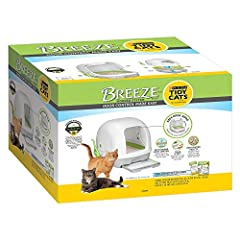 Purina Tidy Cats Hooded Litter Box System, BREEZE Hooded System Starter Kit Litter Box, Litter Pellets & Pads Satisfaction Guaranteed: Love this system, or your money back Easy-open hinged hood allows for quick, easy cleaning Don't Settle for Basic a...