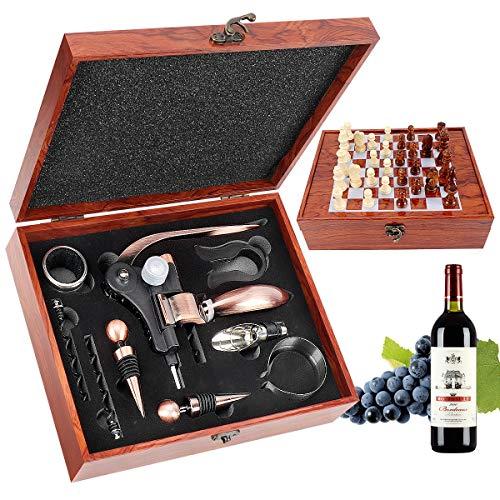 RERXN Caja de madera Accesorios de vino Juegos de regalo - Conejo...