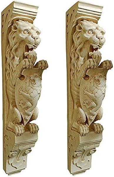 设计托斯卡诺庄园狮子墙雕塑 2 件套