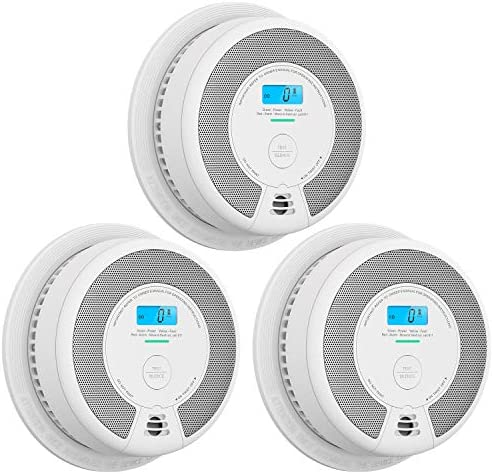 X-Sense CD07 Carbon Monoxide Detector Alarm, 10-Year Battery (Not Hardwired) CO Alarm Detector with LCD Display, Compliant with UL 2034 Standard, Auto-Check & Silence Button, Pack of 3