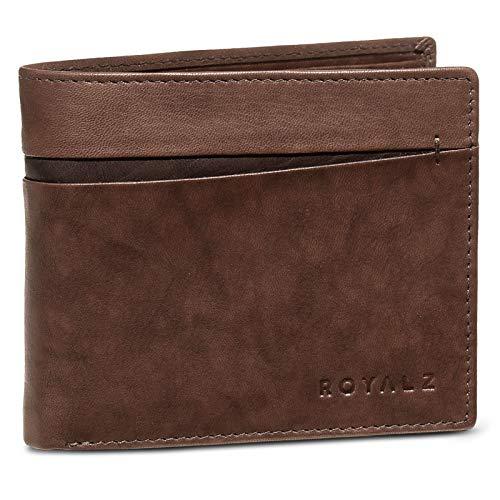 ROYALZ portefeuille NFC/RFID Blocker portefeuille vintage design portemonnee heren RFID-bescherming leer 6 kaartsleuven