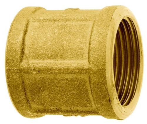 GEKA 2004SB Gewindemuffe IG G 1 Zoll MS durchgehend, Gold, 18 x 8 x 13 cm