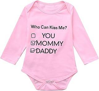 99316c191311 NUWFOR Newborn Infant Baby Boys Girls Boys Letter Print Romper Jumpsuit  Outfits