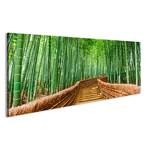 islandburner Bild Bilder auf Leinwand Kyoto, Japan im Bambuswald. Wandbild Leinwandbild Poster DPY