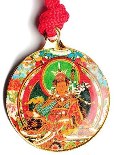 BUDDHAFIGUREN Amuleto budista - Guru Rinpoche con Kalachakra 3 cm de a