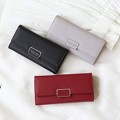 Women Clutch Wallet,Charminer RFID Blocking Multi Card Organizer Wallet,Phone Clutch f For Daily Working Traveling