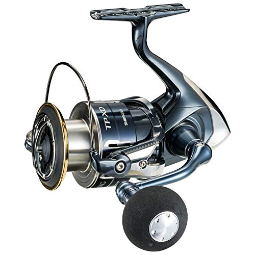 Photo of blue, silver and gold Shimano Twin Power XD spinning reel