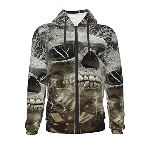 Inaayayi Skull Moon and Stars Number Unisex Sweater Teen 3D Casual Pullover Hoodie Sweatshirts Boys Girls with Pocket