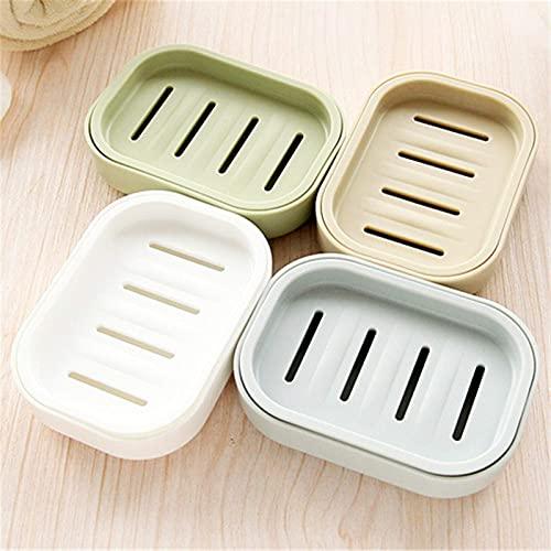 LIXHZJ 4 piezas mini práctico cuarto de baño plato caso ducha al aire libre viajes senderismo titular contenedor sellado caja de jabón color al azar* N.º de producto: WW-250