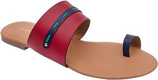 Chumbak Running Stitch Multicolored Toe Slider