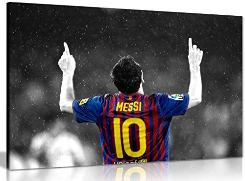 Lionel Messi Barcelona FC - Lienzo decorativo (18x12 pulgadas)