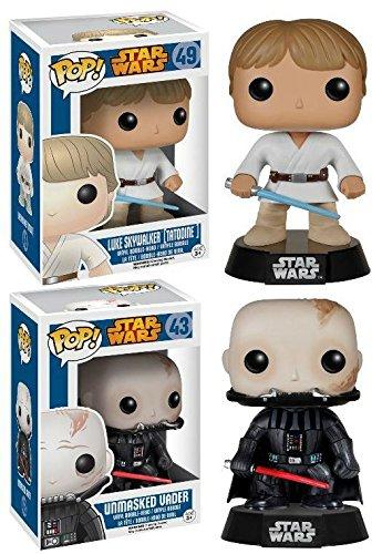 Funko POP! Star Wars: Luke Skywalker (Tatooine) + Darth Vader (Unmasked) Set NEW