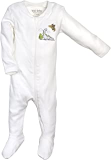 WILD BABY Organic Cotton Zippered Baby Footie with Gift Box - Dino