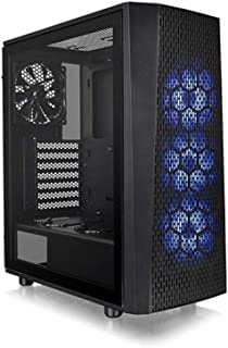 Thermaltake Versa J24 TG RGB - Caja Gaming para PC, Color Negro