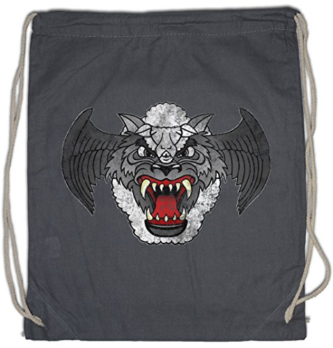 Urban Backwoods Airwolf Patch Bolsa de Cuerdas con Cordón Gimnasio
