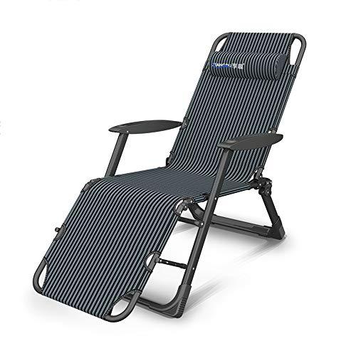 Chaises longues ZR Pliante, Chaise Bureau Pliante pour Le Déjeuner Fauteuil, Lit Sieste, Fauteuil Inclinable Multifonctionnel Portable (Couleur : A)