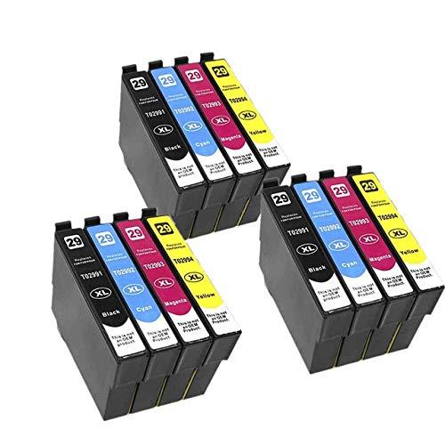 WXX Cartucho de Tinta T2991 29XL Compatible ASW for EPSON XP255 XP257 XP332 XP335 XP342 XP 235 245 247 255 257 332 335 342 (Color : 3set 12PK)