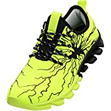 BRONAX Sneakers for Big Boys Slip on Casual Sneakers Trail Walking Jogging Athletic Size 4.5 Sport Tennis Gym Workout Fitness Running Jog Shoes for Teen Young Mens Zapatos Tenis de Hombre Green