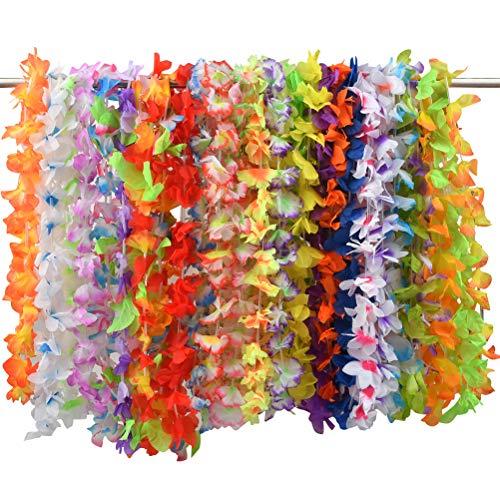 Ghirlanda Hawaiana Collana Fiori 36PCS Ghirlande Hawaiane Collane Tropicali Fiori Ghirlande Hawaii Hula Luau Aloha Collane Tropicali Hawaiane Leis, Festa in Spiaggia Party Decorazione di Compleanno
