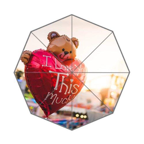 Flipped zomer Y ik hou van je hart helium ballon aangepaste kunst prints paraplu