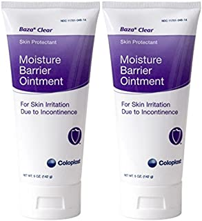 Baza Clear Moisture Barrier Ointment, 5 Ounce Tube, Pack of 2