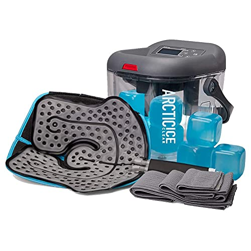 Circulating Cold Water Therapy Kit by Arctic Ice Clear – Ice Machine with Universal Pad 3-Strap...