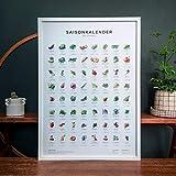 Saisonkalender für Obst & Gemüse in Farbe (Format A2,