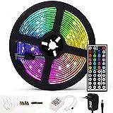 Striscia LED 5M RGB 5050 300 LEDs con 44 Telecomando 20 Colori 14 Modalità