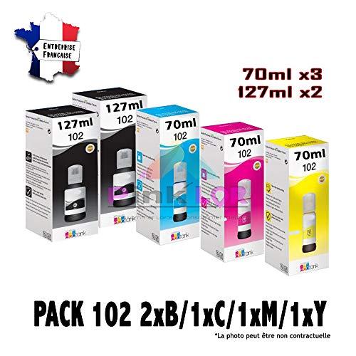 102 (101) ECOTANK tinta compatible de alta calidad para EPSON ET4750/ET3750/ET3700/ET2756/ET2750/ET2700/L4150/L4160/L6160/L6170/L6176/L6190/L14150/ET-15000/ST2000/ST3000/ST4000 (Pack X1 + 1 negro)