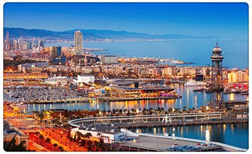 Barcelona Spanien Skyline Stadt Wandtattoo Wandsticker Wandaufkleber R1507 Größe 70 cm x 110 cm