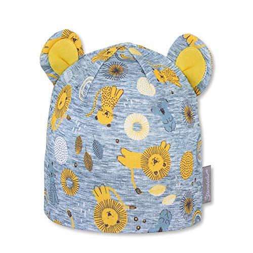 Sterntaler Baby-Jungen 1602171 Beanie-Mütze, gelb, 47