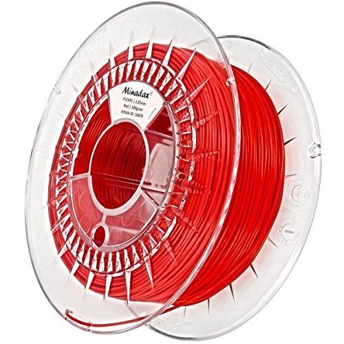 Minadax 0,5kg qualità premium 2,85mm 3mm Flex Filament rosso per stampante 3d prodotto in Europa