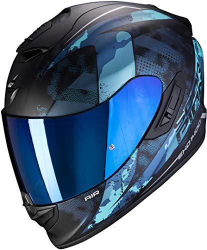 Scorpion - Casco EXO-1400 Air SYLEX - Color Negro/Plateado - Talla M XXL Matt Black BLU