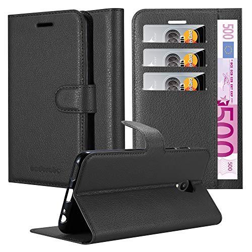 Cadorabo Hülle für MEIZU M6S - Hülle in Phantom SCHWARZ - Handyhülle mit Kartenfach & Standfunktion - Case Cover Schutzhülle Etui Tasche Book Klapp Style