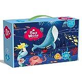 Puzzle de 100/180 piezas, diseño de caricatura de animales, juguete educativo para niños de 6 a 12 años de edad (100 unidades, fondo marino)