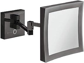 Gedotec H1050, badkamerspiegel, LED-verlichting, cosmeticaspiegel, zwart, badkamerspiegel met lamp, LED-verlichting incl. ...