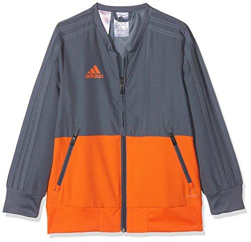 adidas Kinder Condivo 18 Trainingsjacke, Onix/Orange, 140