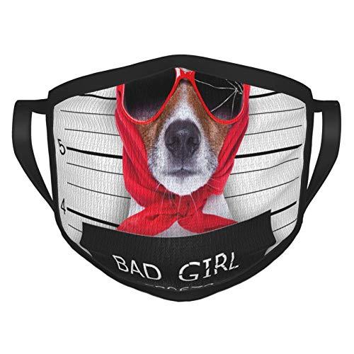 TRUJDNS cubierta de cara para perro malo cubierta de boca lavable paño Sportmaske para hombres mujeres ciclismo camping viajes